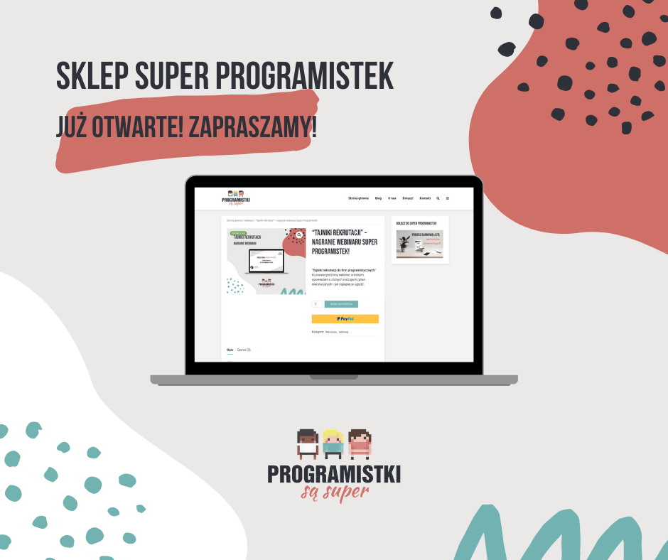 Sklep Super Programistek - już otwarte!